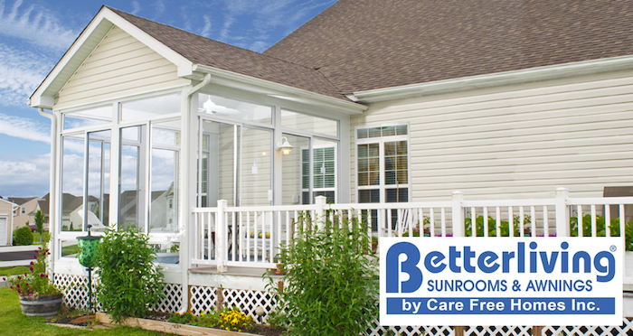 Care Free becomes area's EXCLUSIVE DEALER of Betterliving Sunrooms!
