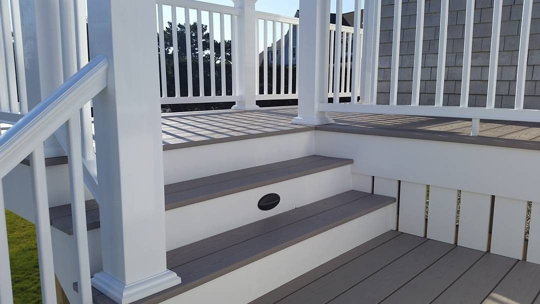 AZEK Deck Design on Waterfront Home in Fairhaven, MA