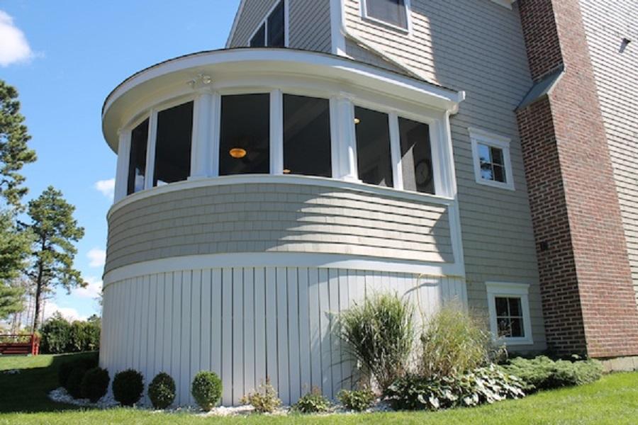 Custom Designed Enclosed Circular Porch, Wareham, MA