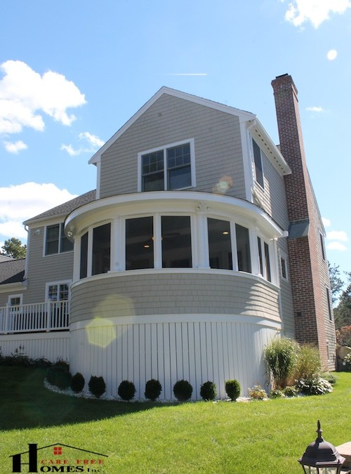 Custom Designed Enclosed Circular Porch Contractor Cape