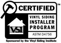 Vinyl Siding Institute Certified Installer