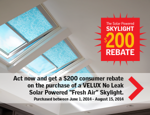 Solar skylights rebate tax credit contractor cape cod for Velux solar skylight tax credit