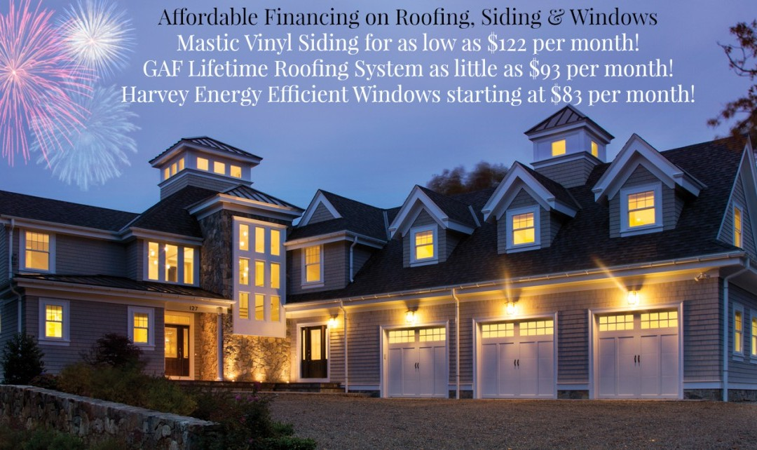 Affordable Financing on Roofing, Siding & Windows!