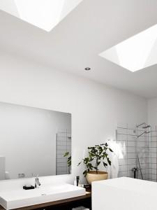 natural light bathroom