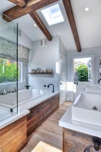 natural material bathroom