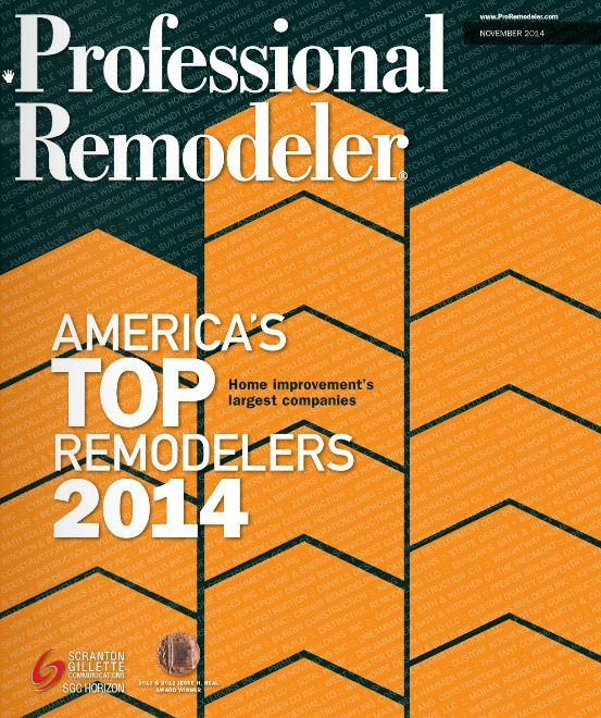 We're One of America's Top Remodelers for 2014