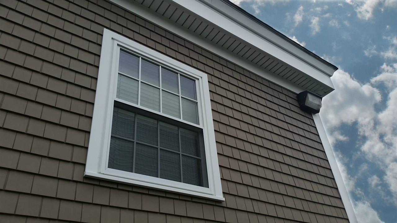 Vinyl siding windows trim gutters alden court for Harvey siding colors