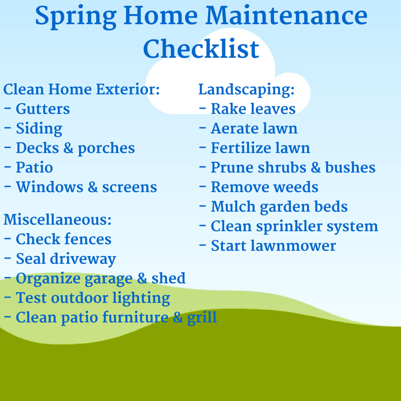 Spring home maintenance checklist contractor cape cod for Fall yard clean up checklist