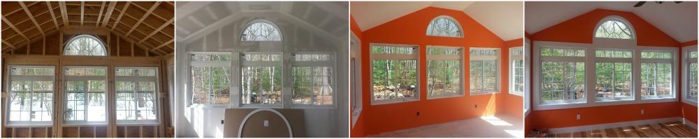 Designer Window Start to Finish Sunroom Collage