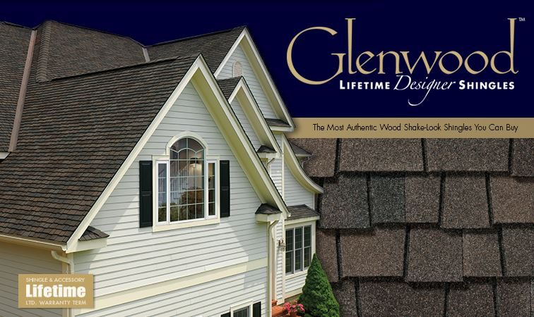 GAF's Authentic Wood Shake-Look: Glenwood Designer Roofing Shingles