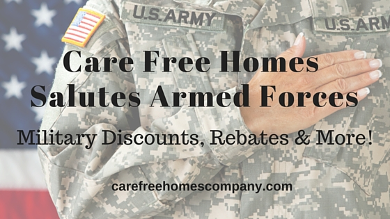Care Free Salutes Armed Forces with Military Discounts, Rebates & More!