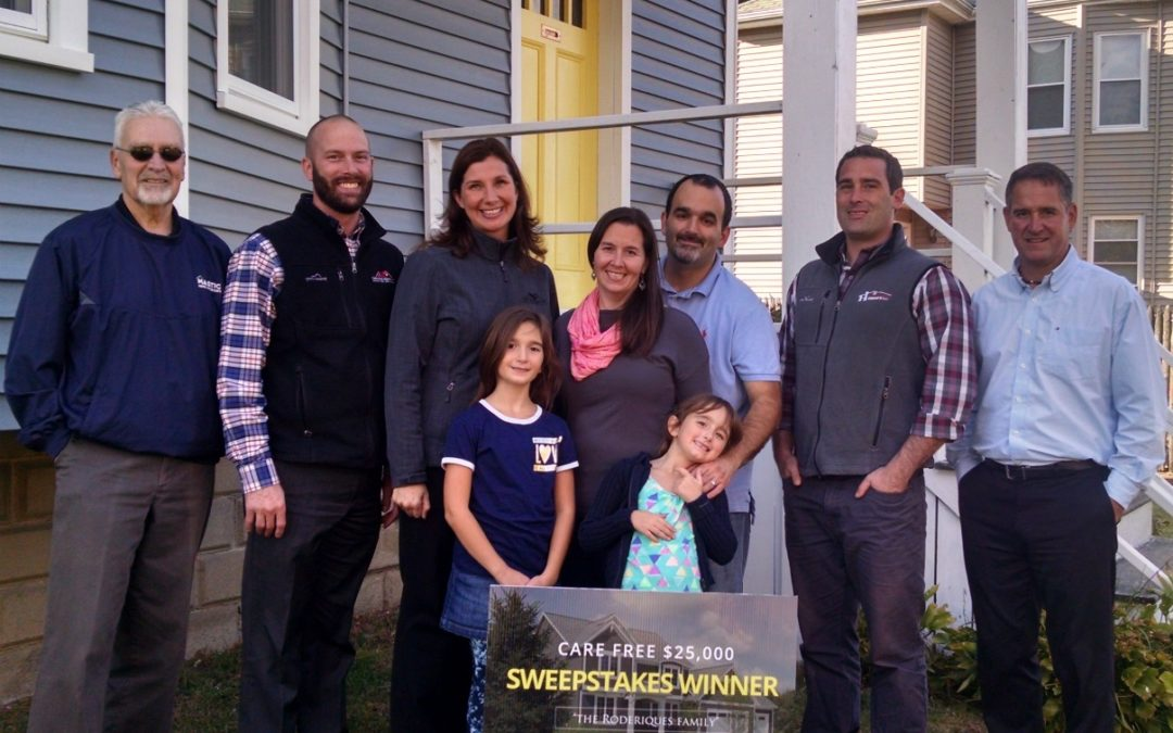 Fairhaven, MA Sweepstakes Winner Takes Home New Roofing, Siding, Windows!