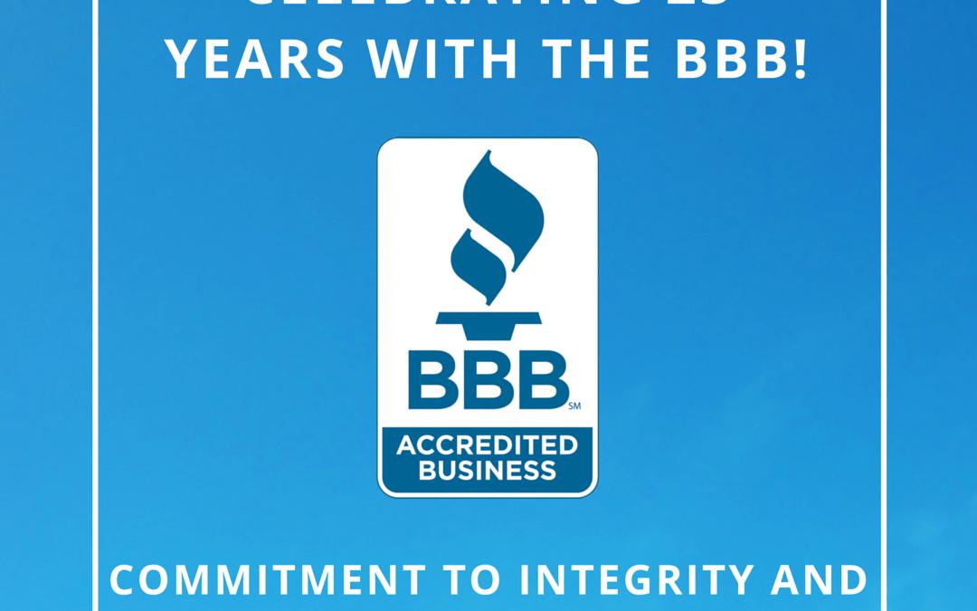 23 Years of Better Business Bureau Accreditation!