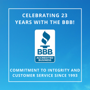 23 Years of Better Business Bureau Accreditation