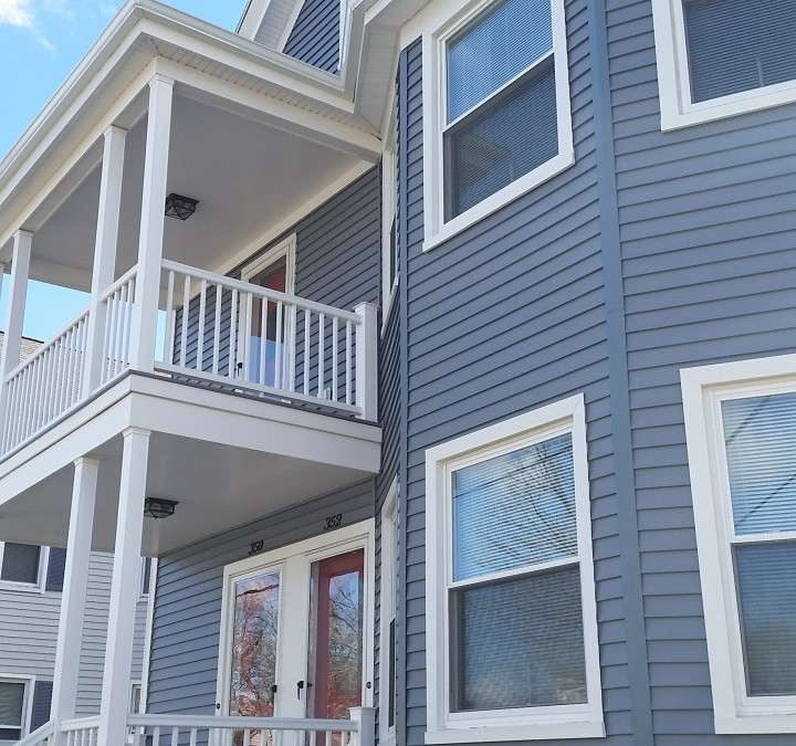 Project Spotlight! Mastic Vinyl Siding, Harvey Replacement Windows & AZEK Porches in New Bedford, MA