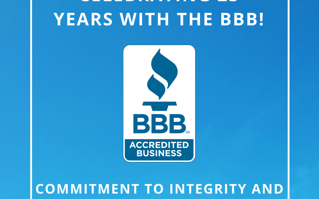 23 Years of Better Business Bureau Accreditation!