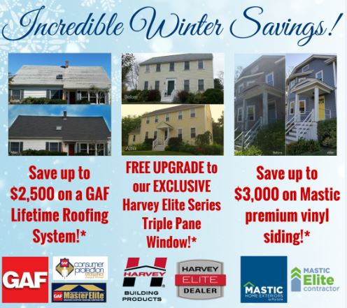 Incredible Winter Savings on Roofing, Siding & Windows Ends 2/15!