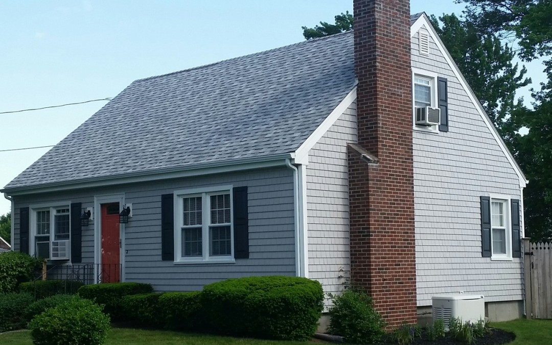 Cape cod style home gets new siding in somerset ma for Cape cod exterior