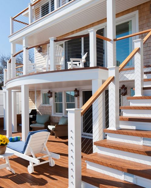Beach House Deck Multi-storied decks with CableRail assemblies. Provicetown, MA
