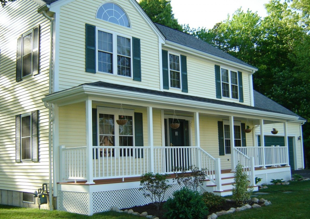 Front porch ideas contractor cape cod ma ri for Colonial home additions
