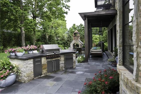 patio kitchen design