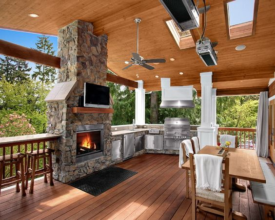 ... Backyard Kitchen On Deck