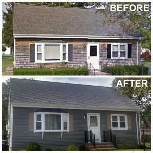 before and after vinyl siding new bedford ma