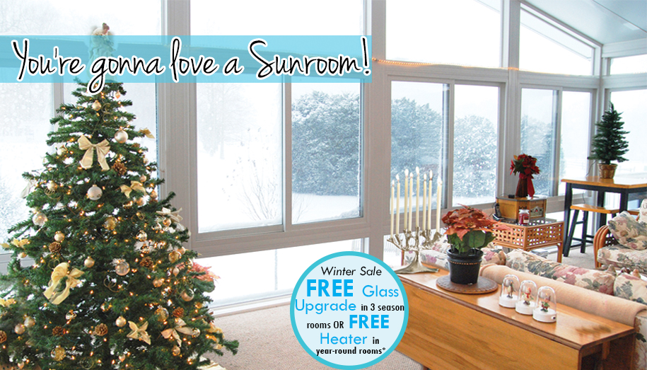 Winter Upgrades on Sunrooms!