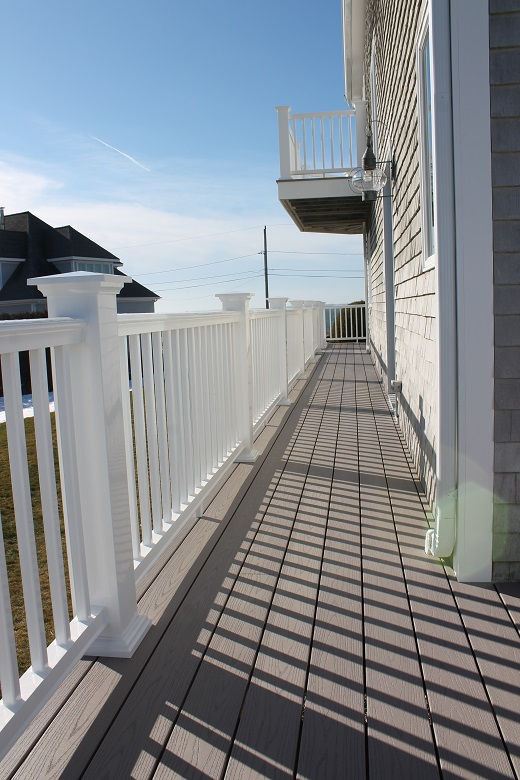 Azek Deck Design On Waterfront Home In Fairhaven Ma