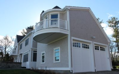 New Cedar Shingle Siding, AZEK Decking, Designer Roof in Marion, MA
