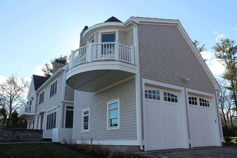 New Cedar Shingle Siding, AZEK Decking, Designer Roof in Marion, MA