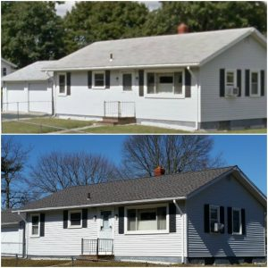 Roof replacement, Acushnet, MA