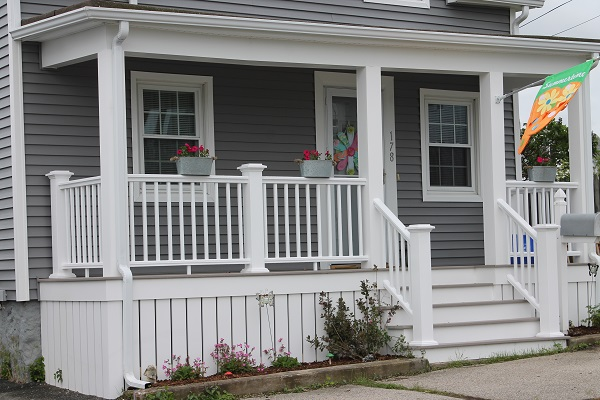 Harvey Windows Vinyl Siding Azek Porch New Bedford Ma