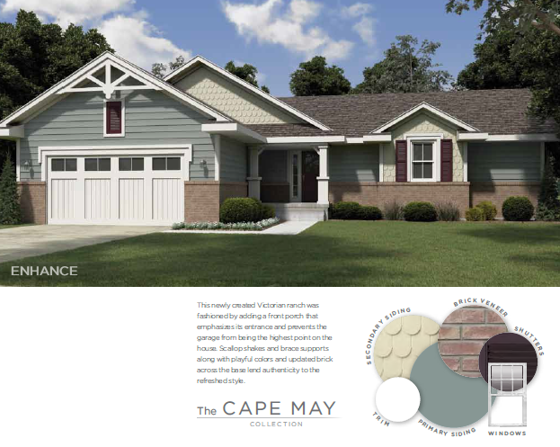 vinyl siding color combos