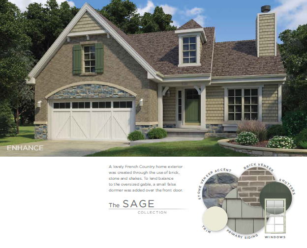Neutral Siding and Accent Colors