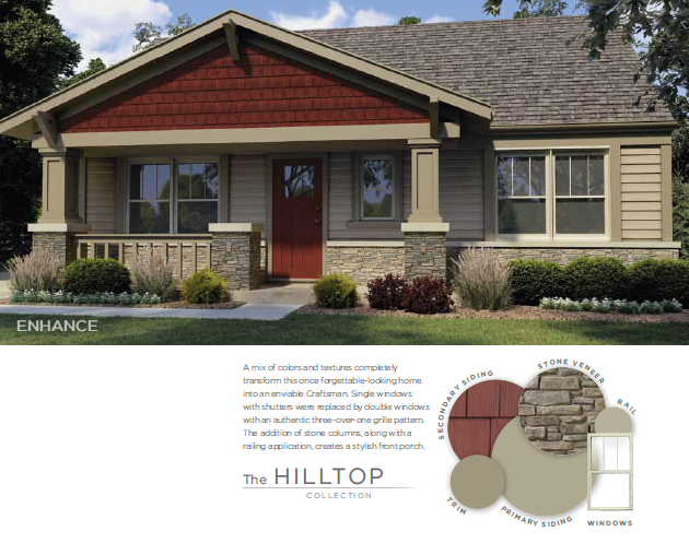vinyl siding color combinations