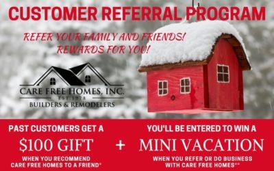 Customer Referral and Rewards Program Winter 2018