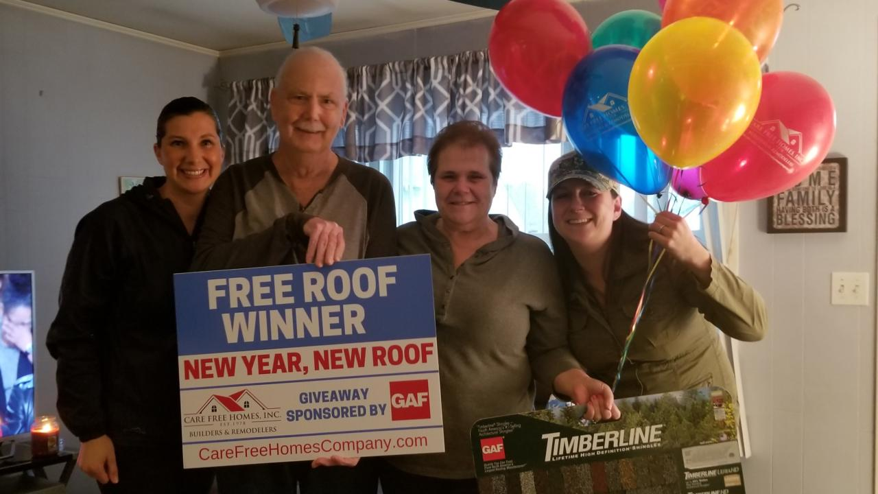 Press Release New Year New Roof Winner Contractor
