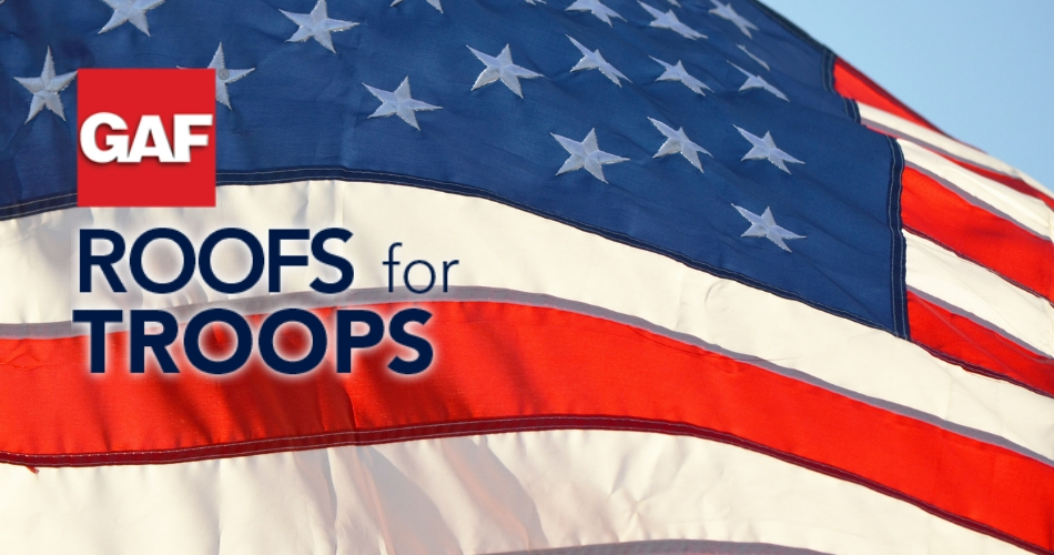 GAF's $250 Roofs for Troops Rebate Offer