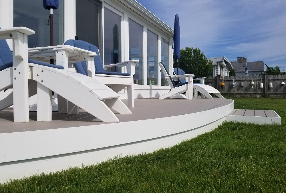 Waterfront Sunroom Features Harvey Windows & AZEK Decking, Fairhaven, MA