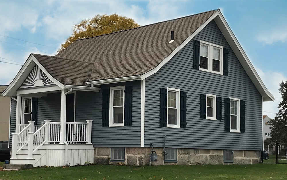 Carvedwood 44 Vinyl Siding & AZEK Porch, New Bedford, MA