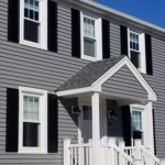 Mastic Vinyl Siding, Harvey Windows, Portico in Dartmouth, MA