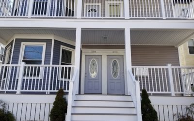 Three Story AZEK Porches, New Bedford, MA