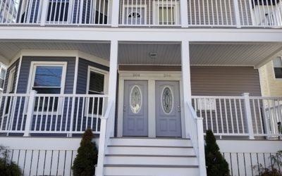 Three Story AZEK Porches, New Bedford, MA