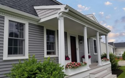 Vinyl Siding and Farmer's Porch Add Curb Appeal to Fairhaven, MA Home!