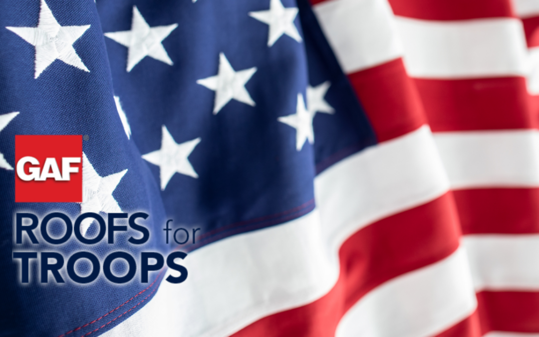 GAF'S $250 Rebate Roofs for Troops Program!