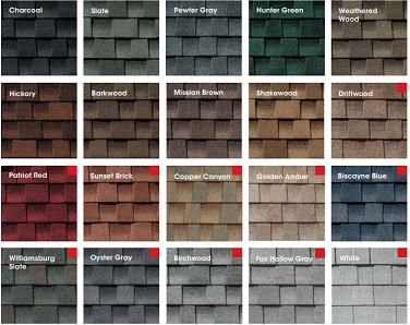 GAF Roof Colors