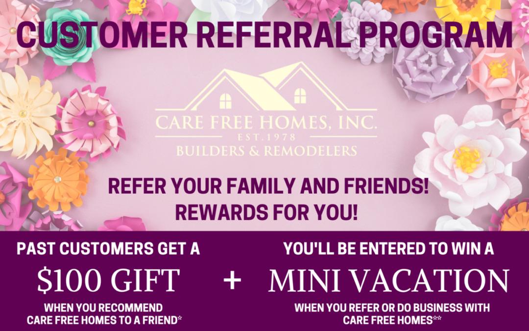 Customer Referral and Rewards Program Spring 2021